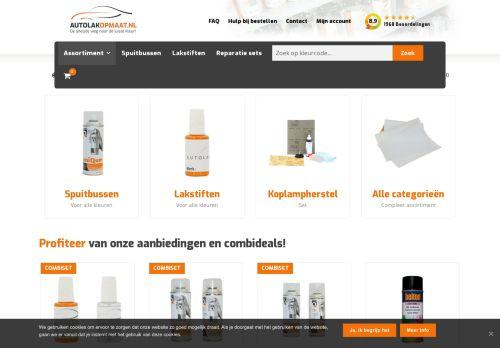 Screenshot van autolakopmaat.nl