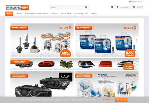 Screenshot van autolampen-shop.nl