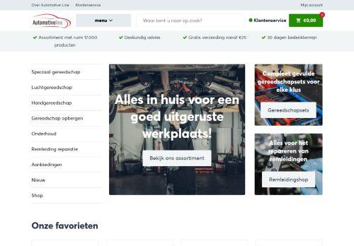 Screenshot van automotive-line.nl
