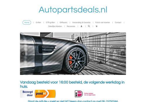 Screenshot van autopartsdeals.nl