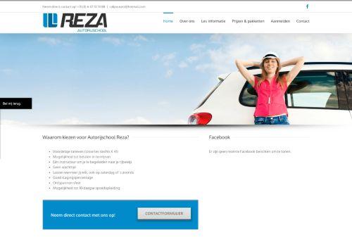 Screenshot van autorijschoolreza.nl