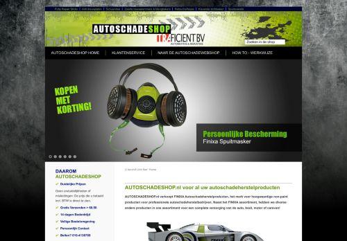 Screenshot van autoschadeshop.nl
