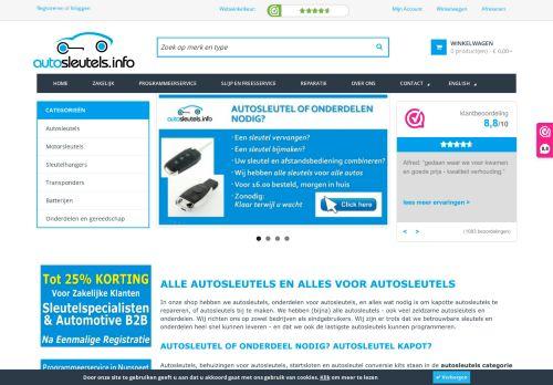 Screenshot van autosleutels.info