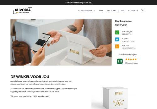 Screenshot van auvoria.nl