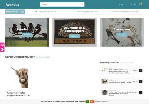 Screenshot van avantius.nl