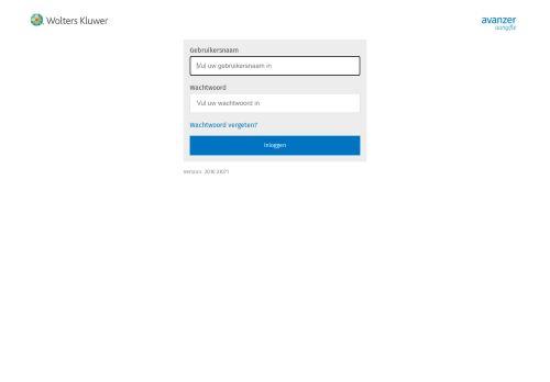 Screenshot van avanzer-aangiften.wolterskluwer.nl