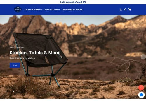 Screenshot van aventuras.nl