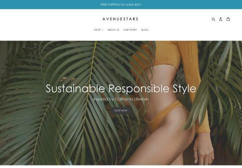 Screenshot van avenuestars.com