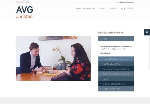 Screenshot van avgjuristen.nl