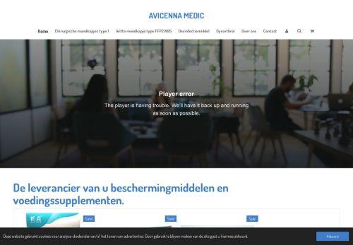 Screenshot van avicennamedic.nl