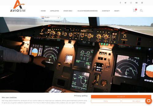 Screenshot van aviosim.org