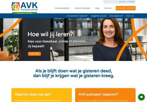 Screenshot van avk.nl