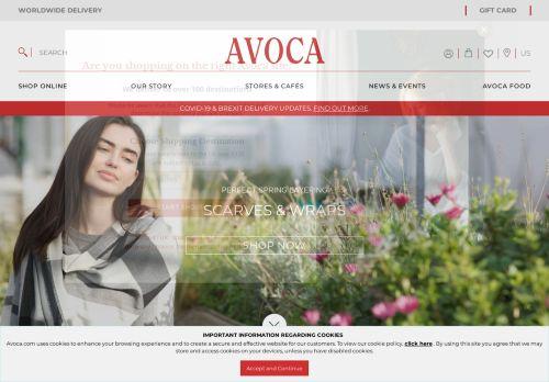 Screenshot van avoca.com