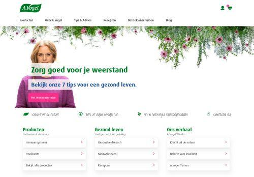 Screenshot van avogel.nl