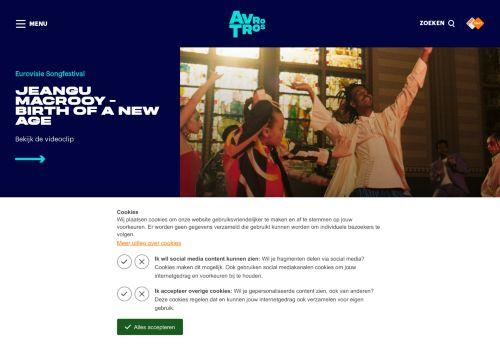 Screenshot van avrotros.nl