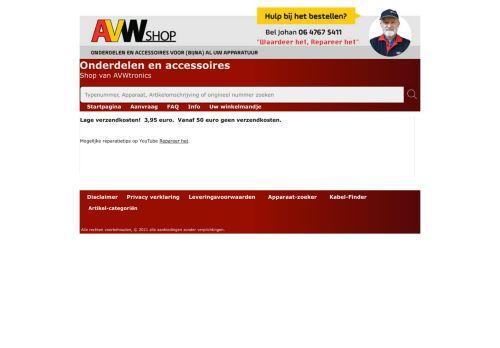Screenshot van avwshop.nl