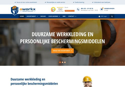 Screenshot van aworkx.nl