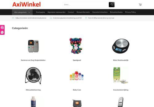 Screenshot van axiwinkel.nl