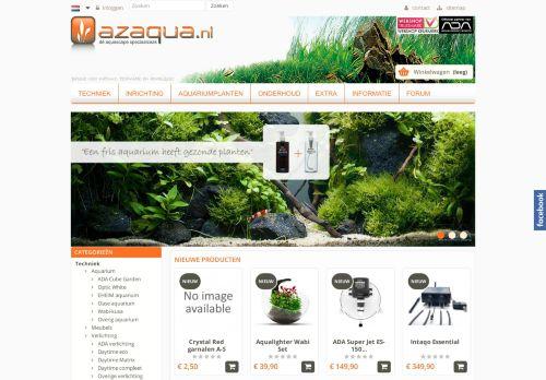 Screenshot van azaqua.nl