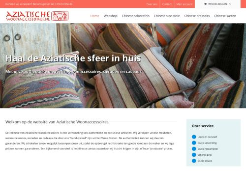 Screenshot van aziatischewoonaccessoires.nl
