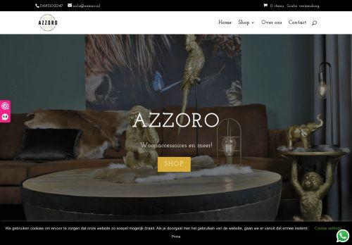 Screenshot van azzoro.nl