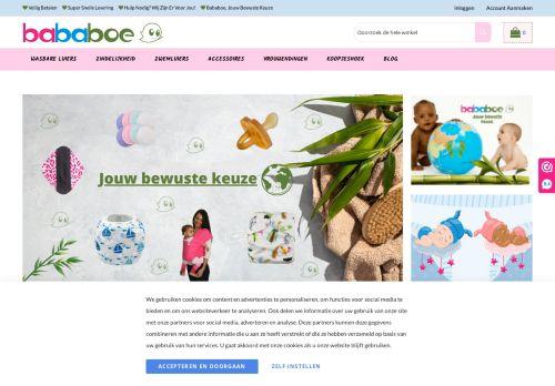 Screenshot van bababoe.nl