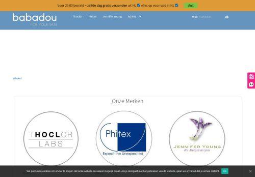 Screenshot van babadou.nl