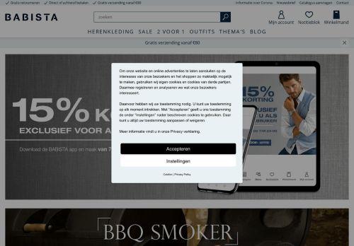 Screenshot van babista.nl