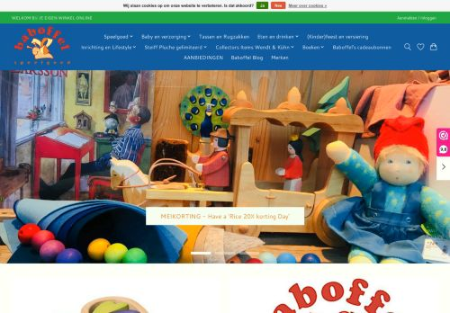 Screenshot van baboffel.nl
