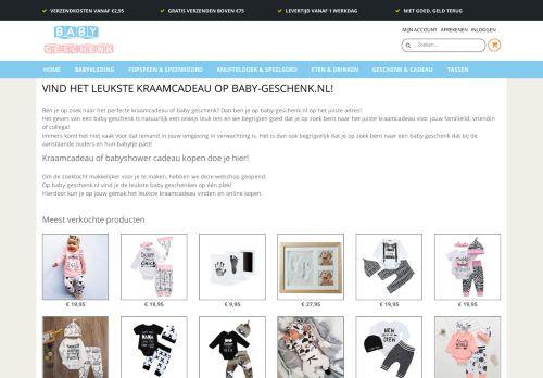 Screenshot van baby-geschenk.nl