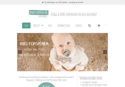 Screenshot van baby-speen.nl