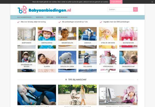 Screenshot van babyaanbiedingen.nl