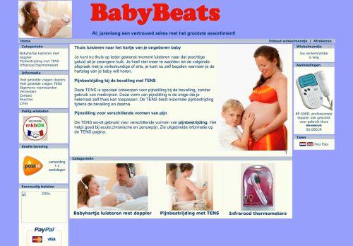 Screenshot van babybeats.nl