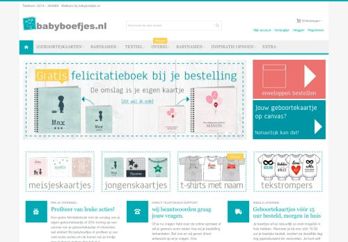 Screenshot van babyboefjes.nl