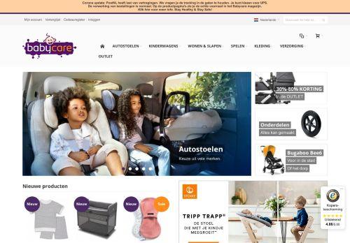 Screenshot van babycare.nl