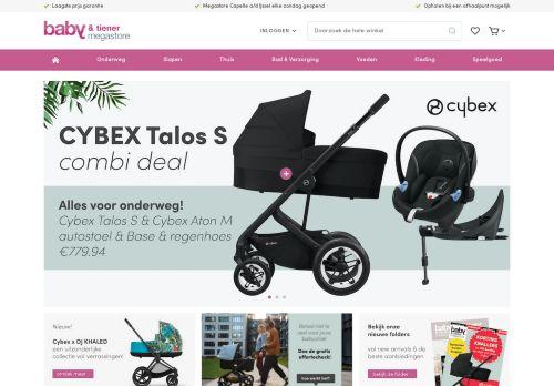 Screenshot van babyentiener.nl