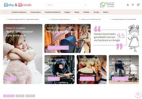 Screenshot van babyentrends.nl