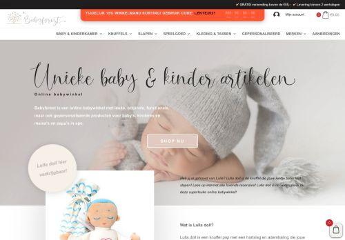 Screenshot van babyforest.nl