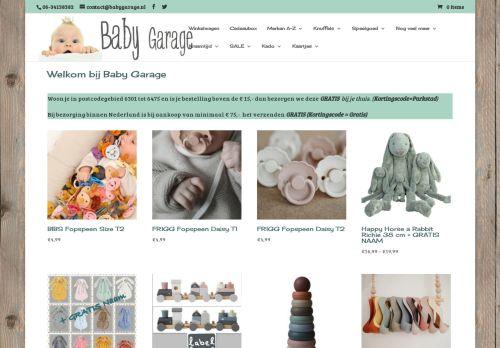 Screenshot van babygarage.nl