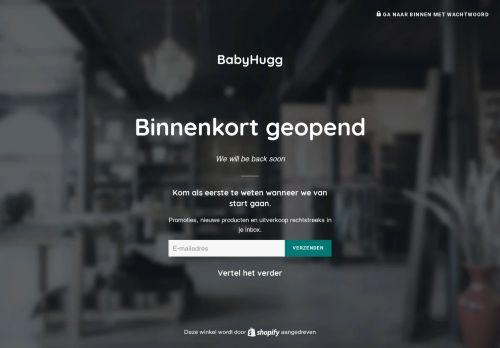 Screenshot van babyhugg.com