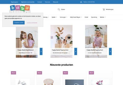 Screenshot van babykoop.nl