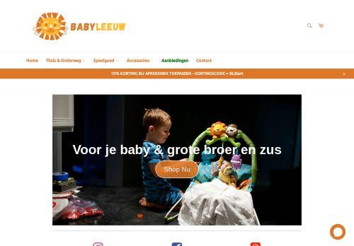Screenshot van babyleeuw.nl