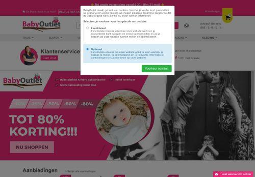 Screenshot van babyoutlet.nl