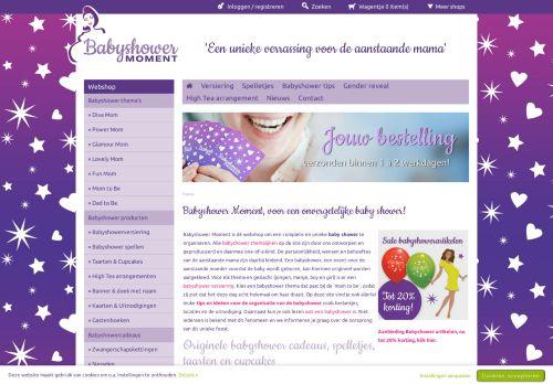 Screenshot van babyshowermoment.nl
