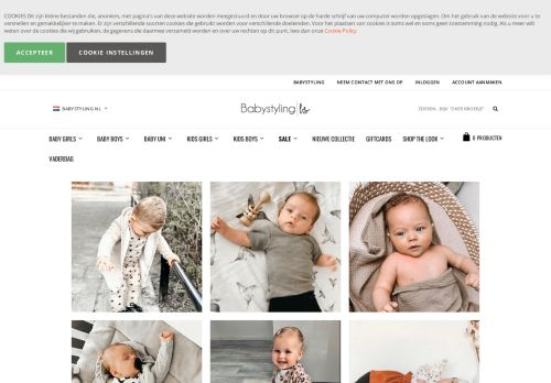 Screenshot van babystyling.nl