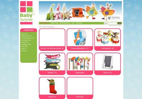Screenshot van babysurprise.nl