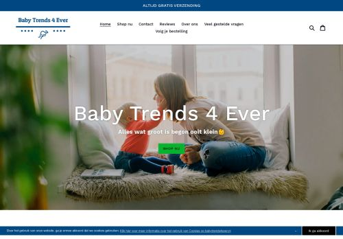 Screenshot van babytrends4ever.nl