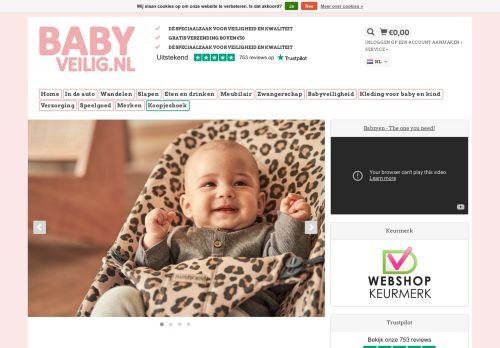 Screenshot van babyveilig.nl