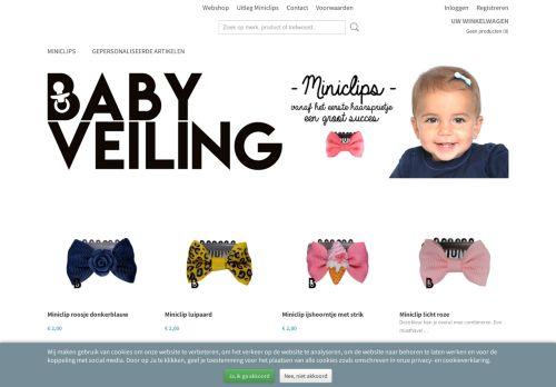 Screenshot van babyveiling.nl