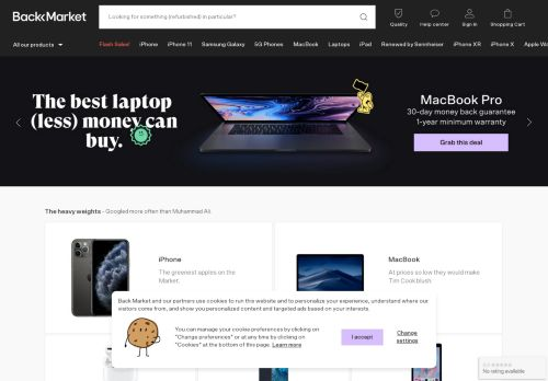 Screenshot van backmarket.com